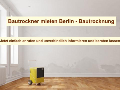 Bau trocknen Berlin & Brandenburg